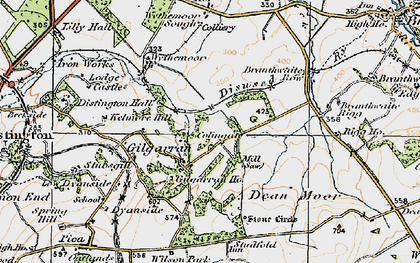Old map of Wythemoor Head in 1925