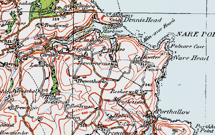 Old map of Gillan in 1919