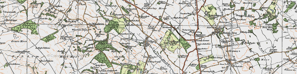 Old map of Gilling West in 1925