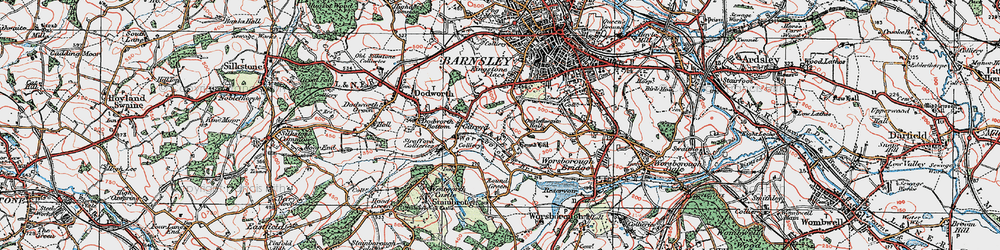 Old map of Gilroyd in 1924