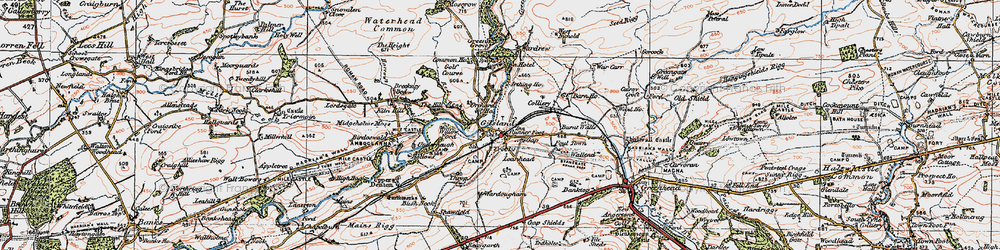 Old map of Willowford in 1925