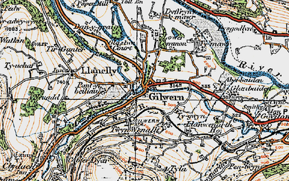 Old map of Gilwern in 1919