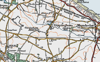 Old map of Gimingham in 1922