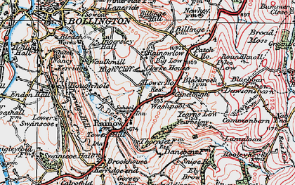 Old map of Yearns Low in 1923