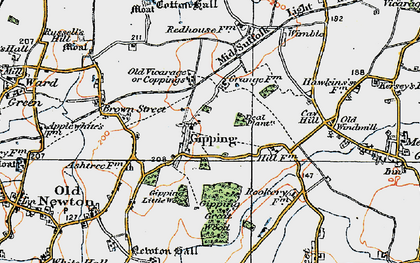 Old map of Wimble in 1921