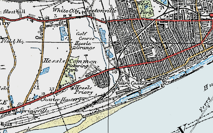 Old map of Gipsyville in 1924