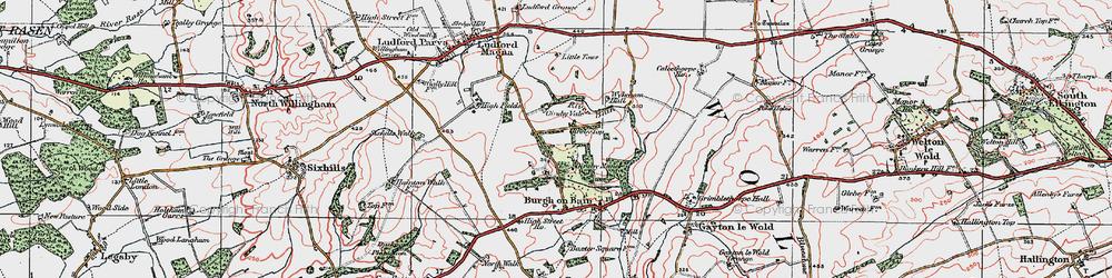 Old map of West Wykeham Village in 1923