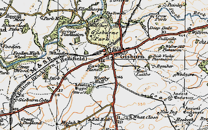 Old map of What Close in 1924