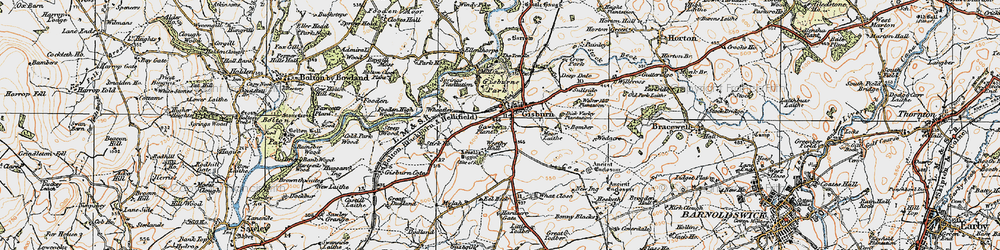Old map of Wheatley in 1924