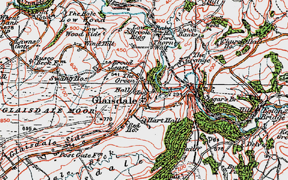 Old map of Glaisdale in 1925