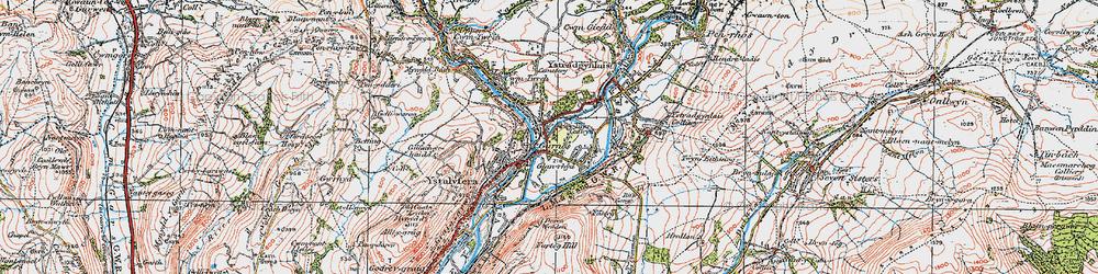 Old map of Ynys-Cedwyn in 1923