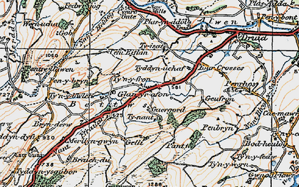 Old map of Betws in 1922