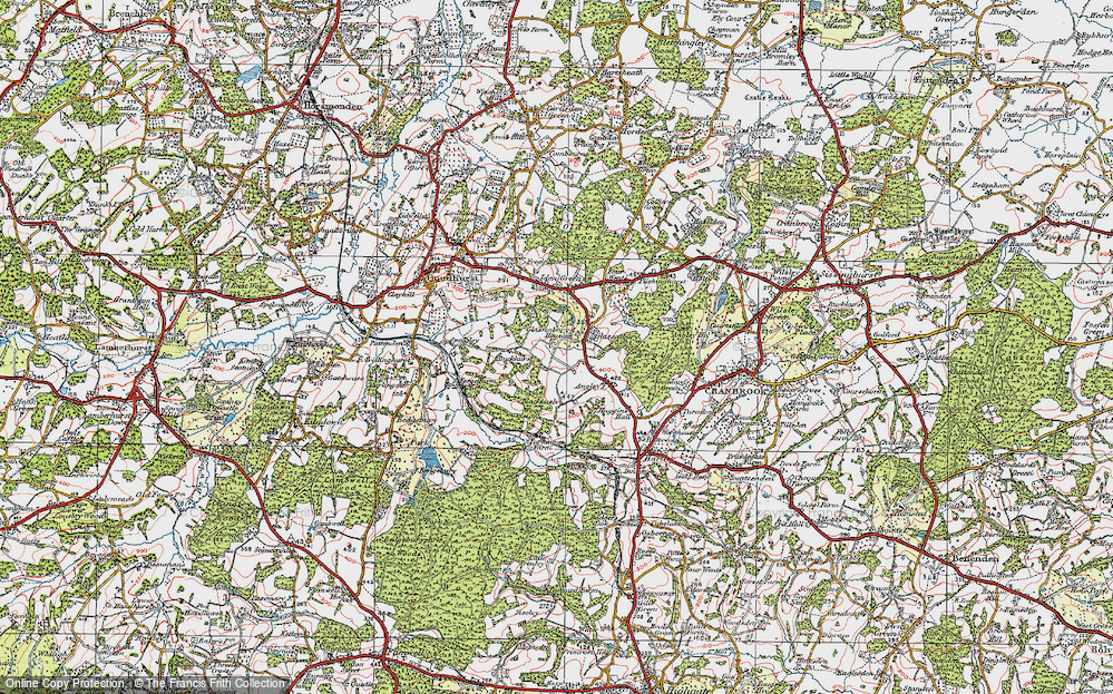 Old Map of Glassenbury, 1921 in 1921