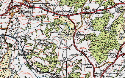 Old map of Glassenbury in 1921