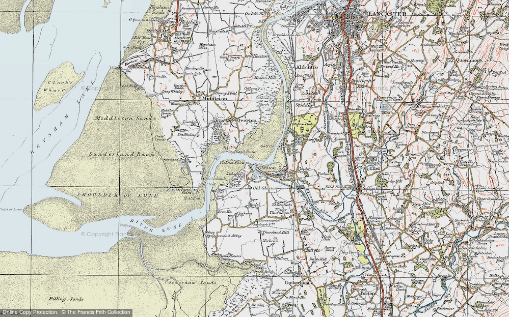 Old Map of Historic Map covering Tithe Barn Hill in 1924