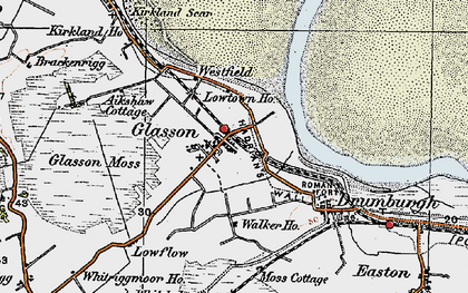 Old map of Whitriggmoor Ho in 1925
