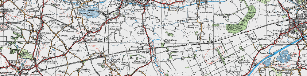Old map of Glazebury in 1924