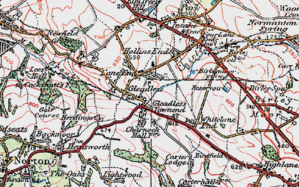 Old map of Gleadless in 1923