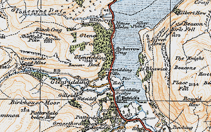 Old map of Westside in 1925
