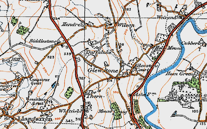 Old map of Hollymount in 1919