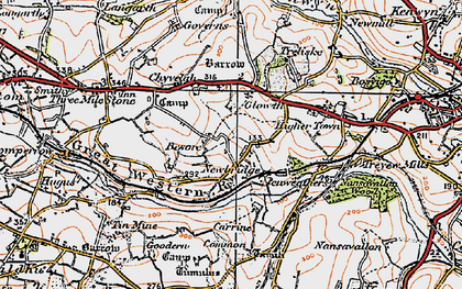 Old map of Gloweth in 1919