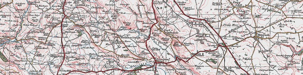 Old map of Aldery Cliff in 1923