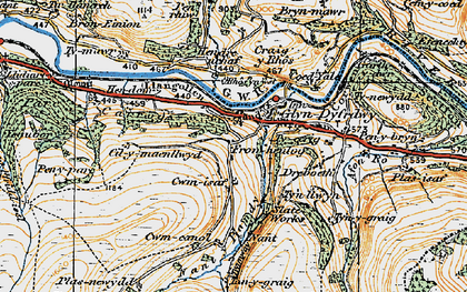 Old map of Afon Ro in 1921