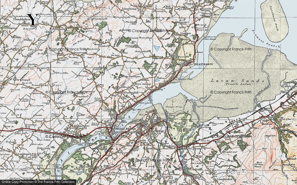 Old Map of Glyngarth, 1922 in 1922