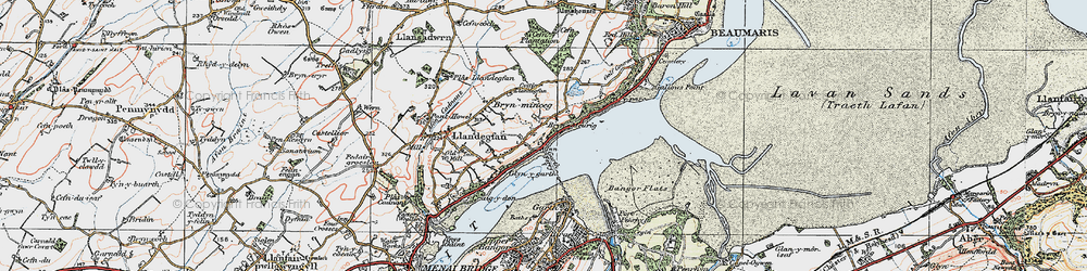 Old map of Glyngarth in 1922