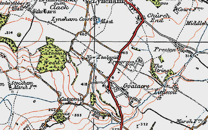 Old map of Goatacre in 1919
