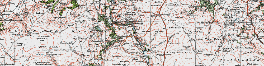 Old map of Widow Howe in 1925