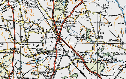 Old map of Gobowen in 1921