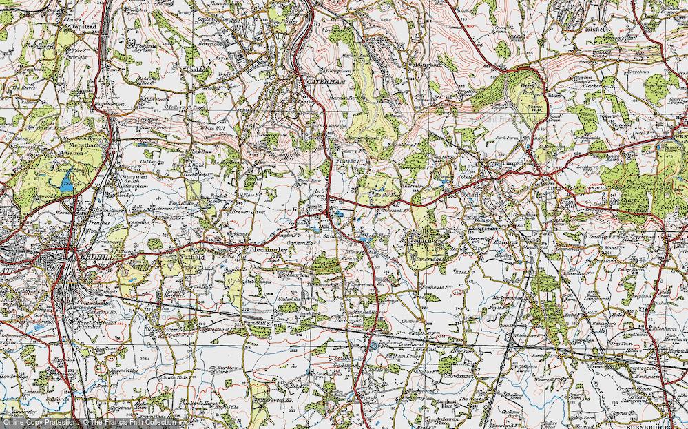 Old Map of Godstone, 1920 in 1920