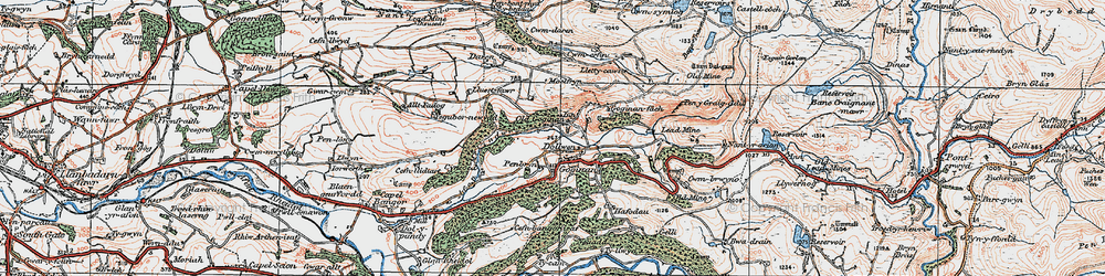 Old map of Goginan in 1922
