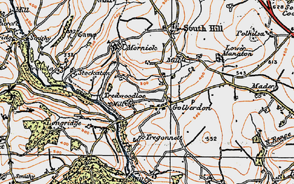 Old map of Golberdon in 1919