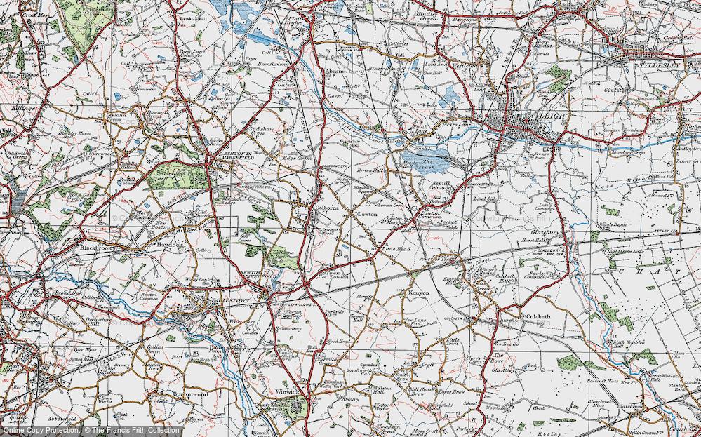 Old Map of Golborne, 1924 in 1924