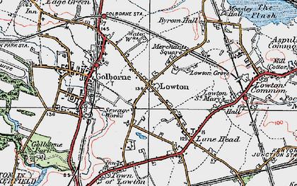Old map of Golborne in 1924