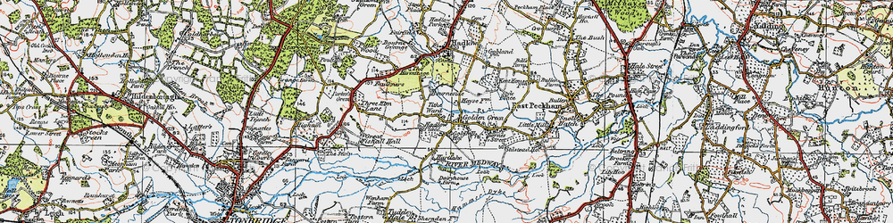 Old map of Tithe Ward in 1920
