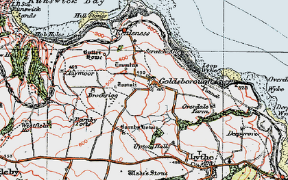 Old map of Lythe in 1925
