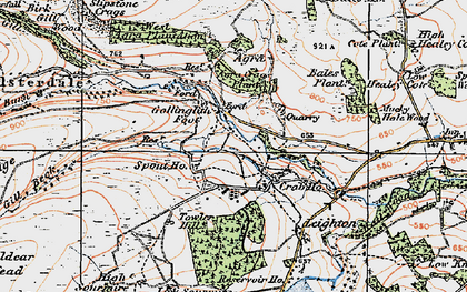 Old map of Bales Plantn in 1925