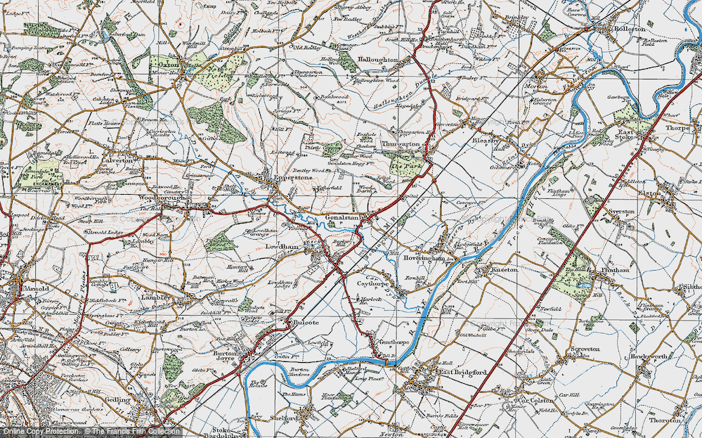 Old Map of Historic Map covering Wood Barn in 1921