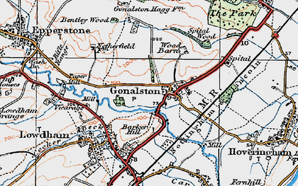 Old map of Wood Barn in 1921