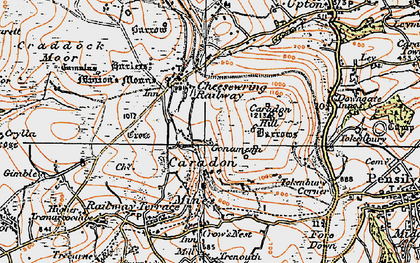 Old map of Gonamena in 1919