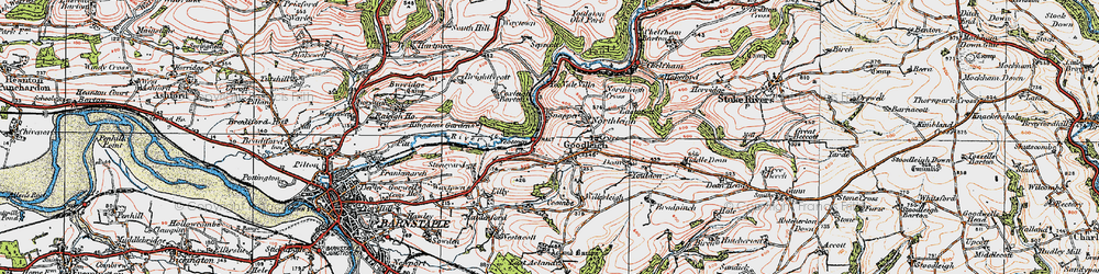 Old map of Goodleigh in 1919