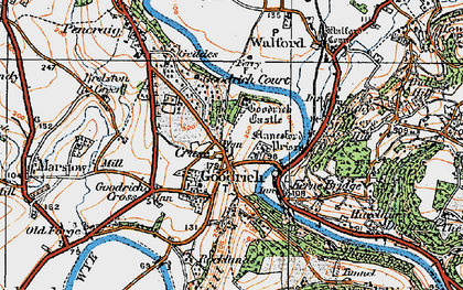 Old map of Goodrich in 1919