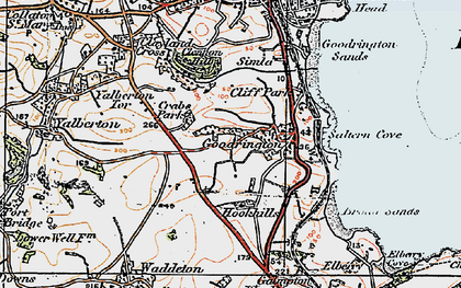 Old map of Goodrington in 1919
