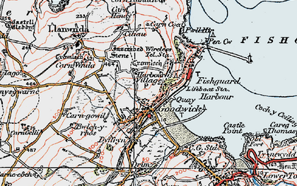 Old map of Goodwick in 1923