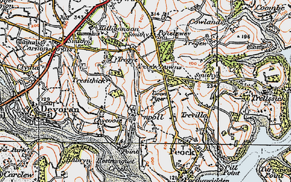 Old map of Goon Piper in 1919