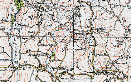 Old map of Goonabarn in 1919