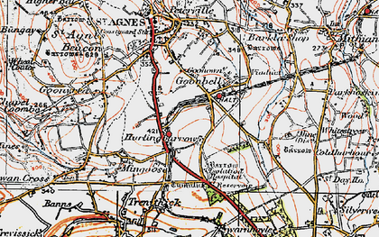 Old map of Goonbell in 1919